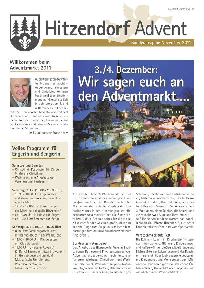 Sonderausgabe Advent 2011