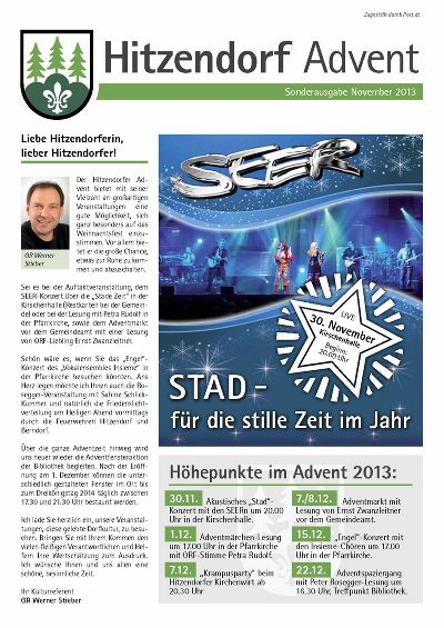 Sonderausgabe Advent November 2013
